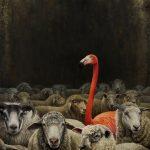 Christiane Vleugels - Sheep - Oil Painting