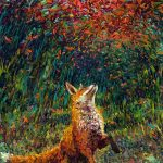 Fox oil painting by Iris Scott art
