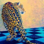Leopard painting by Iris Scott